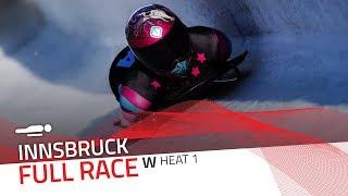 Innsbruck | BMW IBSF World Cup 2019/2020 - Women's Skeleton Heat 1 | IBSF Official