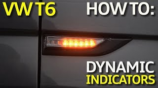 How To: Install VW Transporter T6 LED Dynamic Side Indicators