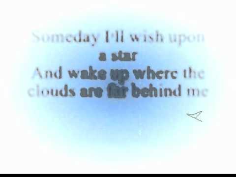 Somewhere Over The Rainbow - Judy Garland Lyrics.wmv