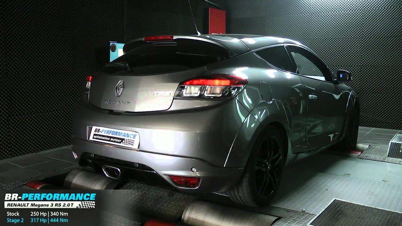 Renault Megane 3 RS Stage 2 250hp @ 318hp Par BR Performance   YouTube