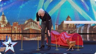 Marion and her chicken tackle an agility course | Audition Week 1 | Britain's Got Talent 2015