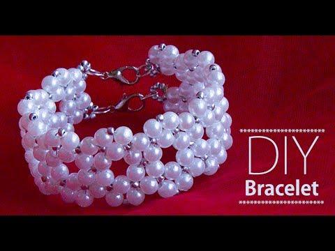 How to make pearl bracelet | DIY Bracelets | pearl bridal jewelry making |Beads art