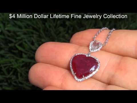 GIA Certified Unheated Rare 8.43 Ct. Top Red Burma Ruby & Diamond Heart Pendant. Solid 18k Gold