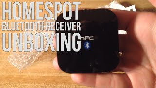 HomeSpot NFC Enabled Bluetooth Audio Receiver Unboxing