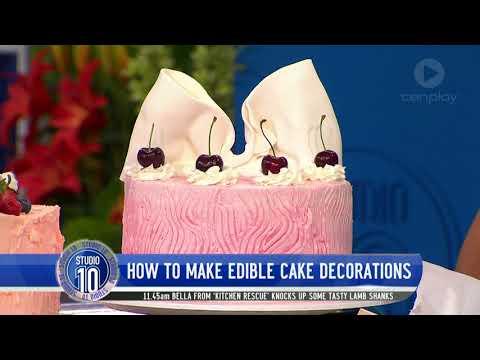 Download Youtube: Making Edible Cake Decorations | Studio 10