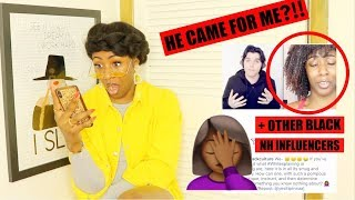 I React To WHITE GUY Who Came For ME + Other NATURAL HAIR Influencers!🙄🤬👊🏾 // #HeTriedIt
