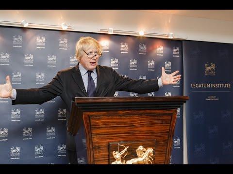 Boris Johnson Launches the Legatum Institute's Prosperity for All Project
