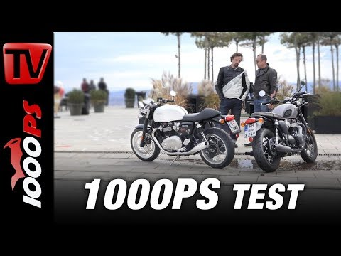 Vauli und Zonko beim Gentleman´s Ride - Triumph Thruxton 1200 vs. Bonneville T120 Black Test 2017
