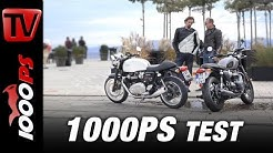 Triumph Thruxton 1200 vs. Bonneville T120 Black Test 2017 - Vauli und Zonko auf Gentleman´s Ride