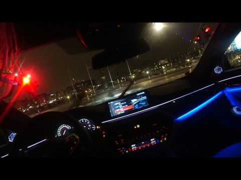 [4k] YOU drive the NEW BMW 540i xDrive G30 POV in Stockholm Sweden during rain in the NIGHT nice LED