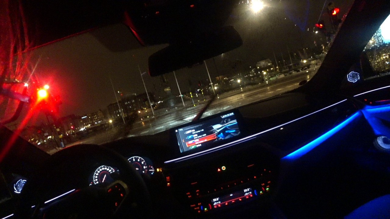 4k you drive the new bmw 540i xdrive g30 pov in stockholm sweden during rain in the night nice. Black Bedroom Furniture Sets. Home Design Ideas