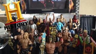 WWE action figure set up - History