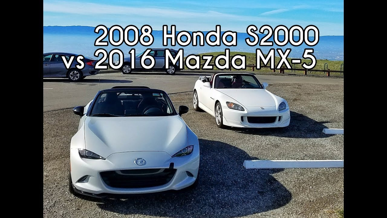2008 Honda S2000 vs 2016 Mazda MX-5 Miata Club - Head to Head Review!
