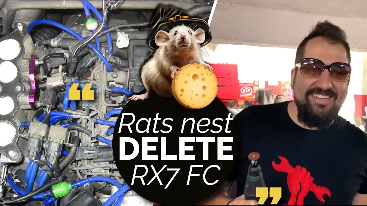 Rx7 FC Rats nest & OMP delete!