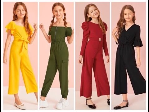 Latest Jumpsuit For kids Girl//Stylish Jumpsuit for Girls - YouTube