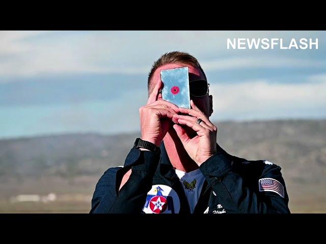 Thunderbirds Perform Aerial Acrobatics At Reno Air Races In Nevada