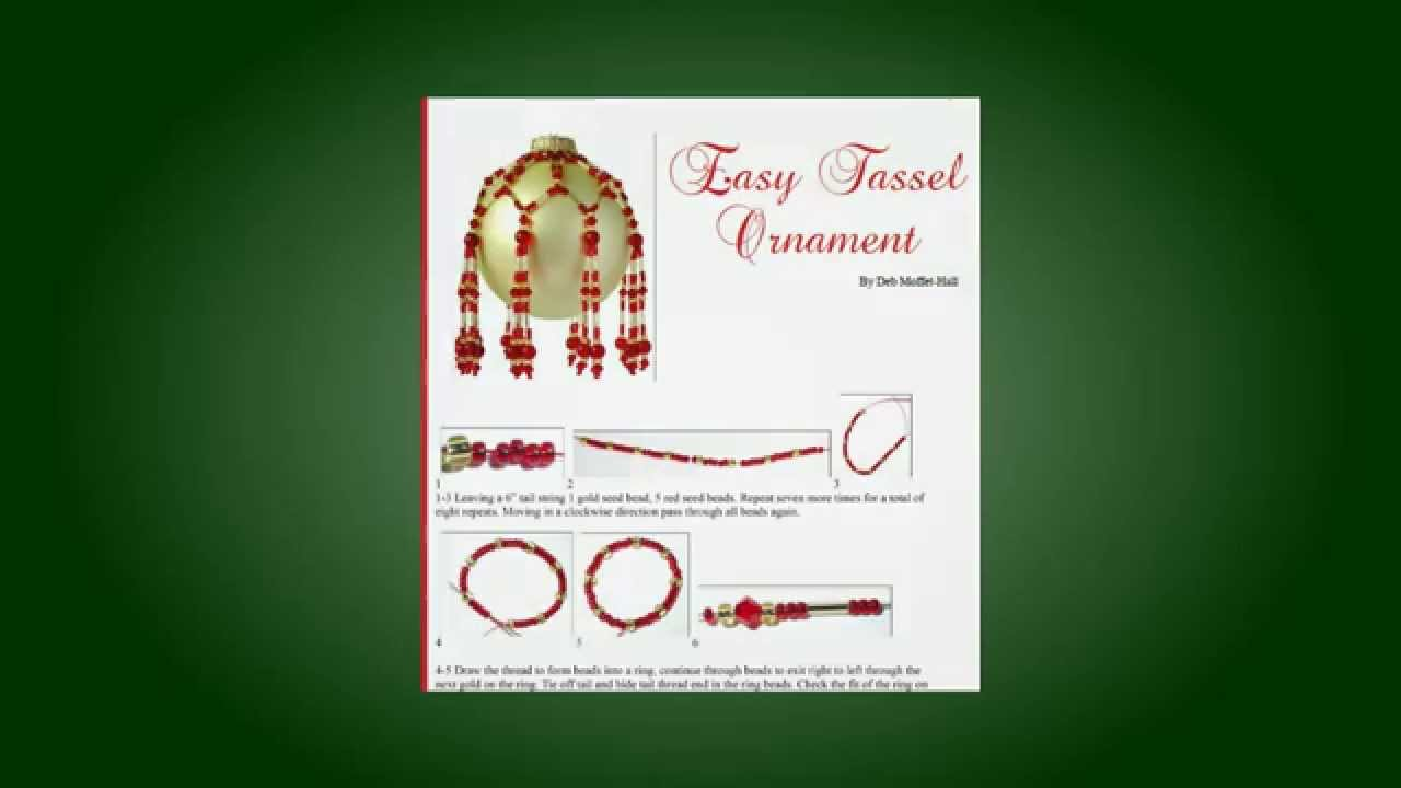 Homemade Christmas Ornaments - Free Ornament Pattern - YouTube