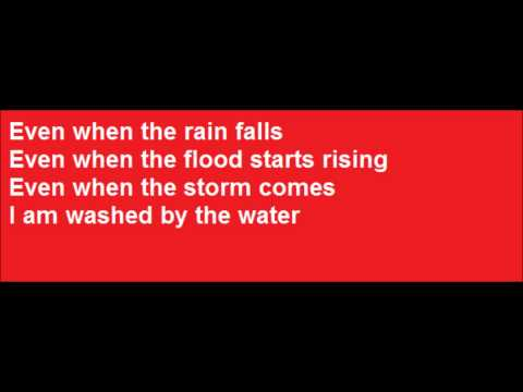 NEEDTOBREATHE Washed by the Water--LYRICS