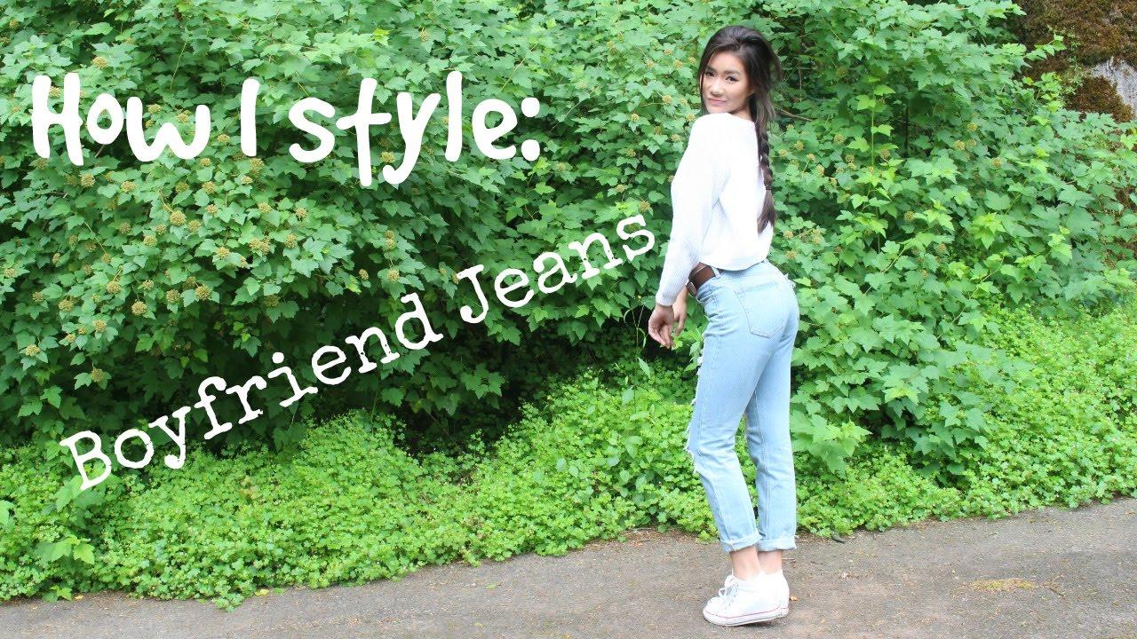 f668dae4344 How I Style: Boyfriend Jeans | Brandy Melville - YouTube