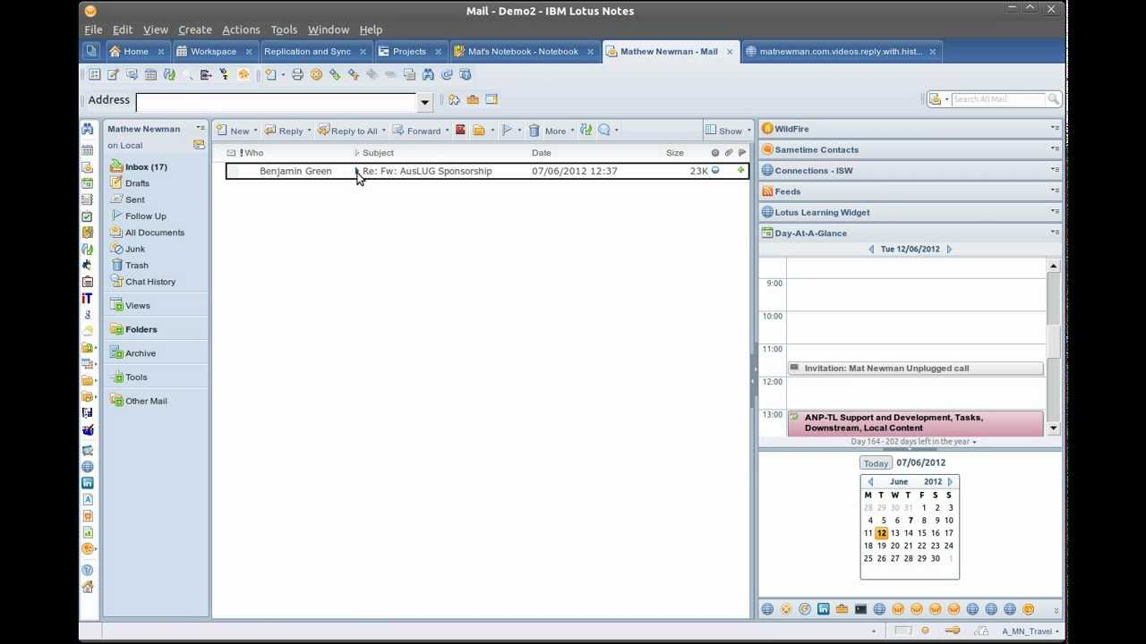 MYTHBUSTING Outlook IS NOT better than Lotus Notes, pt 8