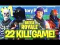 22 KILL VICTORY ROYALE!! - FORTNITE BATTLE ROYALE!