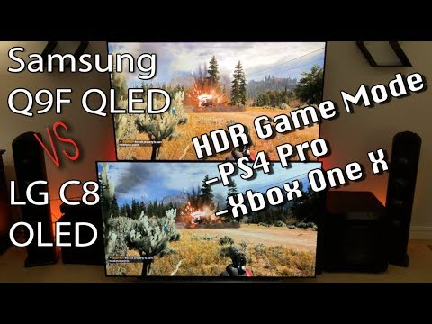 LG C8 OLED vs Samsung Q9FN / Q9F QLED 2018 Game Mode Comparison