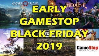 Gamestop Early Black Friday Deals 2019