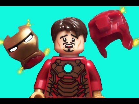 Lego iron man 3 mark 42 suiting up scene in lego old - Lego iron man 3 ...