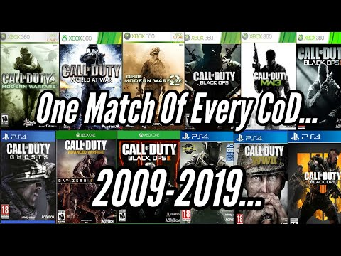 Playing ONE GAME Of EVERY Call Of Duty... 2019