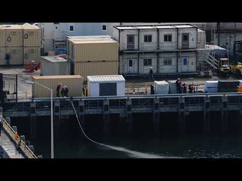USS Nimitz Enters Dry Dock 2018