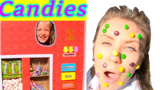 Kids and Mom pretend play in Candies Vending Machine. Fun kids Stories for kids on Baby Time channel