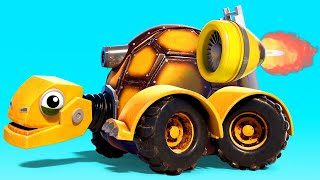 ДЖОННИ совершает СКОРОСТНОЙ СПУСК ПО ТРОСУ с ГИГАНТСКОГО БОБА - мультфильмы с грузовиками с машинами