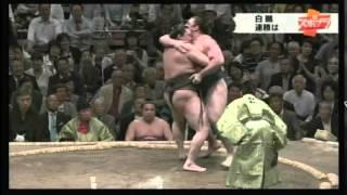 2015/5/12 白鵬 ×栃ノ心 大相撲夏場所 3日目 勝利数が623勝目 歴代3...