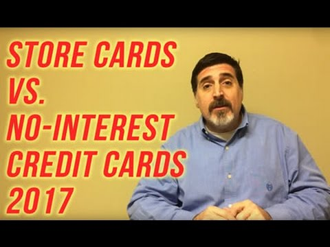 Store Cards vs. No-Interest Credit Cards for 2016 and 2017