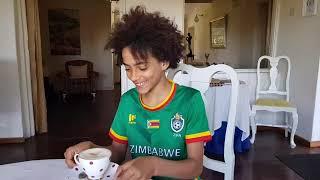 English video: Zimbabwe: Mutare - Chimanimani village. African football game.