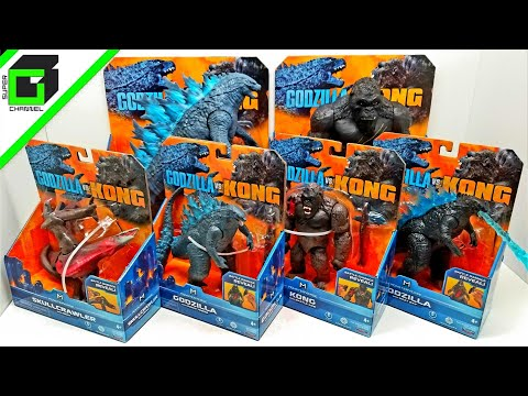 New! GODZILLA vs KONG (All six action figures, so far) Playmates Toys UNBOXING and REVIEW!