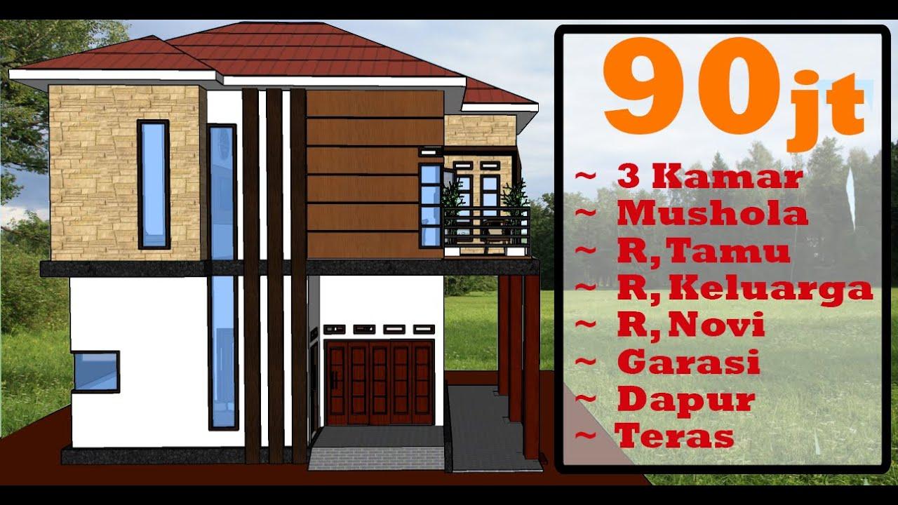 Desain Rumah Minimalis 2 Lantai 8x6 M Dengan 3 Kamar - MZU OFFICIAL - YouTube