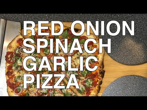 Red Onion, Spinach and Garlic Pizza