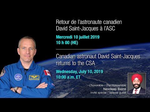 EN DIRECT – David Saint-Jacques Accueilli à L'Agence Spatiale Canadienne