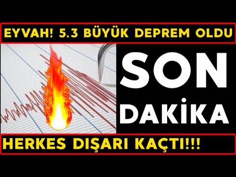 Son dakika! 5.3 BÜYÜK DEPREM OLDU! Son dakika deprem haberleri, deprem nerede oldu? (Son Depremler!)