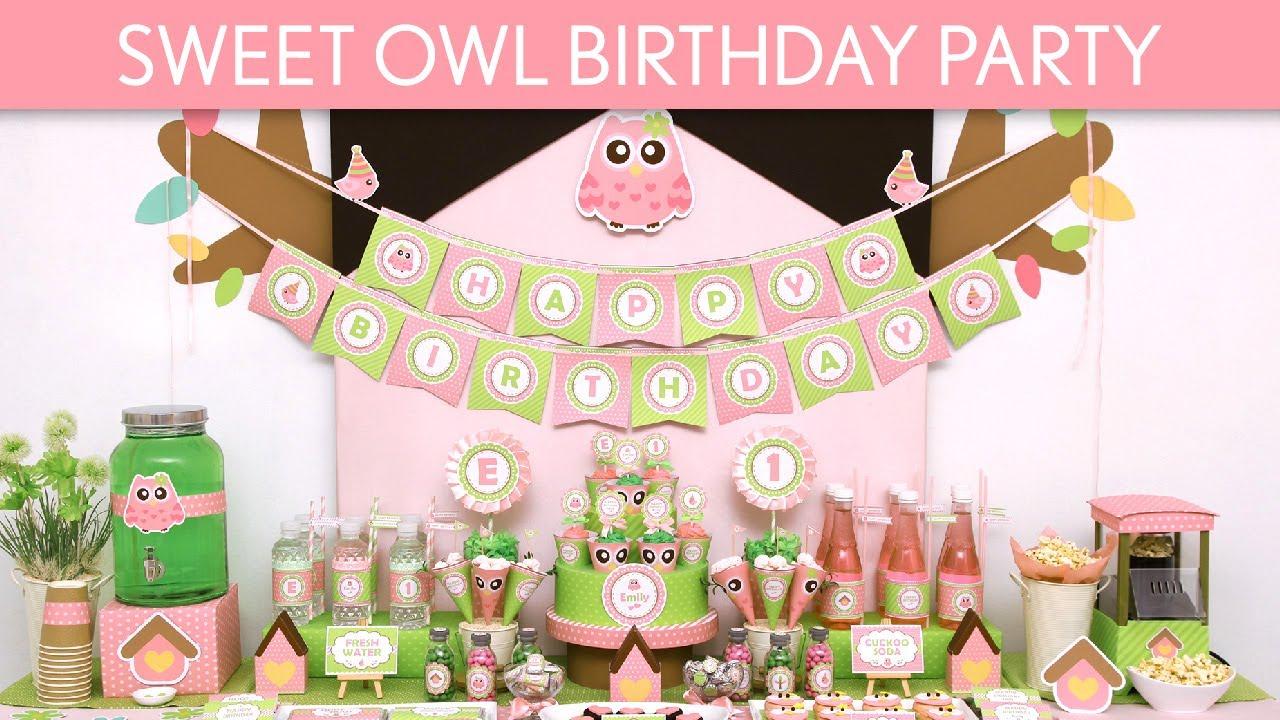 Sweet Owl Birthday Party Ideas Sweet Owl B115 Youtube
