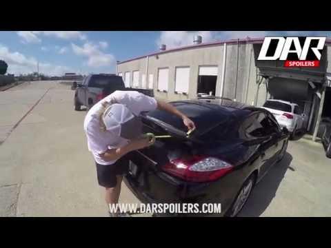 How to Install a Spoiler - Porsche Panamera Spoiler Installation Video (2010-2013)