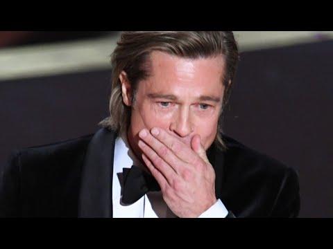 Brad Pitt Gets Emotional During Heartfelt Oscars Speech