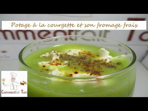 potage-(soupe)-à-la-courgette-et-son-fromage-frais-par-commentfait-ton