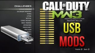MW3 USB Mods + DOWNLOAD | 20th Prestige, All Titles and Emblems, All Challenges, Modded Classes