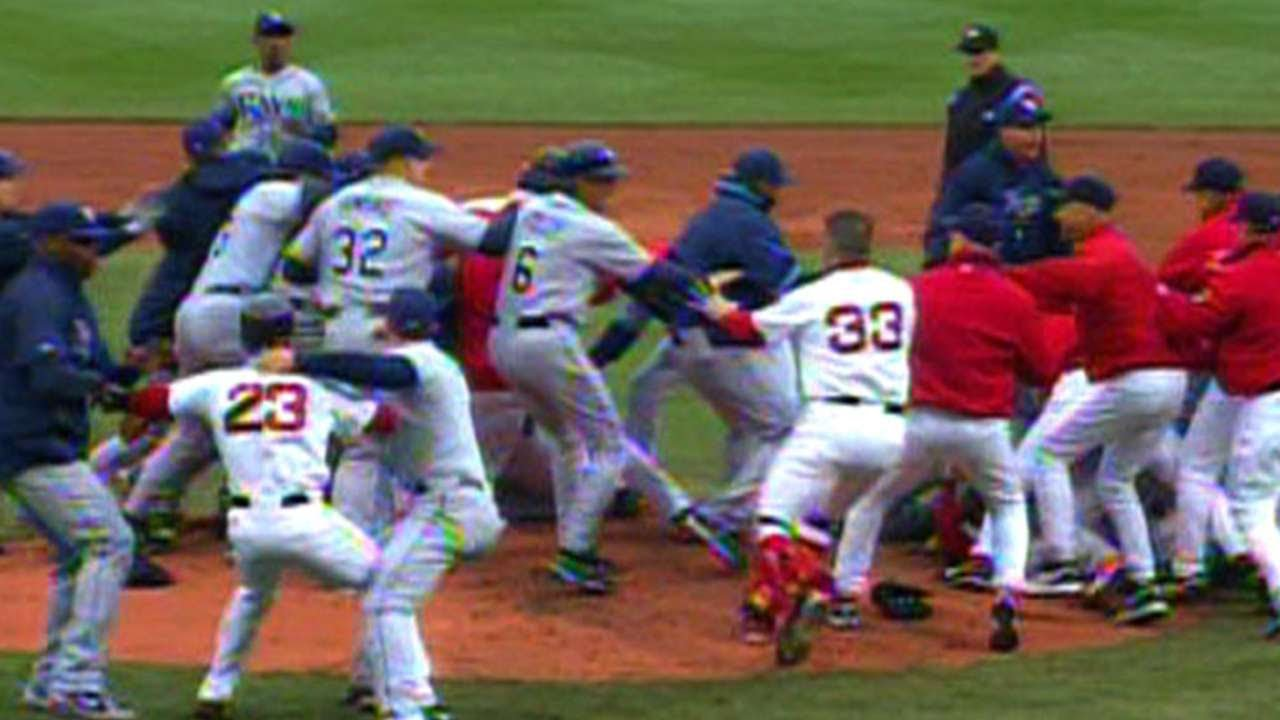 b623e897d Coco Crisp and James Shields ignite brawl in Boston - YouTube