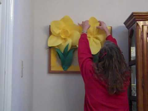3d Paper Daffodil Flower For School Bulletin Boards