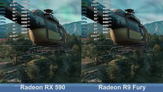 Radeon RX 590 vs. Radeon R9 Fury - Far Cry New Dawn - Benchmark Comparison Test (i7-9700K)