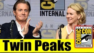 TWIN PEAKS | Comic Con 2017 Full Panel & News (Kyle MacLachlan, Naomi Watts, Tim Roth,Laura Palmer)