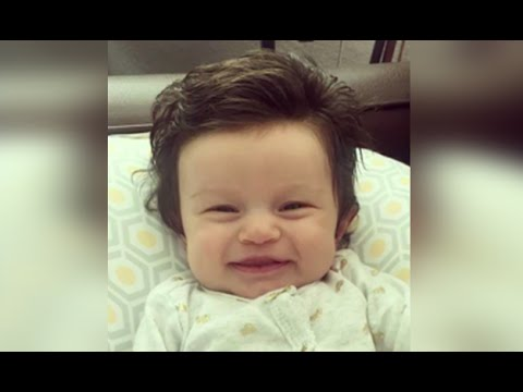 baby with perfect hair makes her an internet sensation youtube rh youtube com